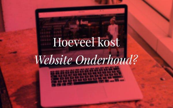 Hoeveel kost website onderhoud?